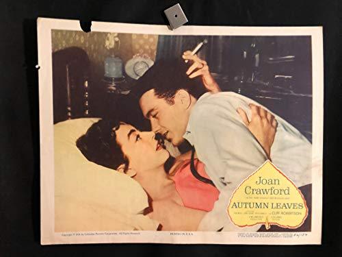 Autumn Leaves 1956 Original Vintage Lobby Card Movie Poster, Joan Crawford, Cliff - Autumn Leaves Joan Crawford