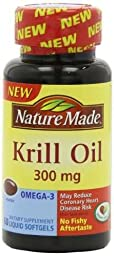 Nature Made Krill Oil Softgels, 300 Mg, 60 Count (Pack of 2)