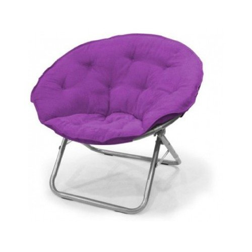 Large Polysuede Moon Chair - Purple by Mainstays