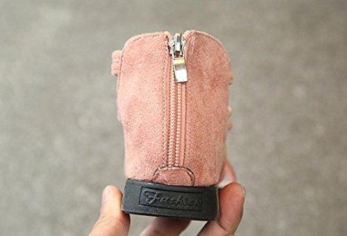 Jamicy® Mädchen Sandalen, Kinder Kinder Mädchen Solide Leder Zipper Casual Beach Flachen Sandalen Schuhe Rosa