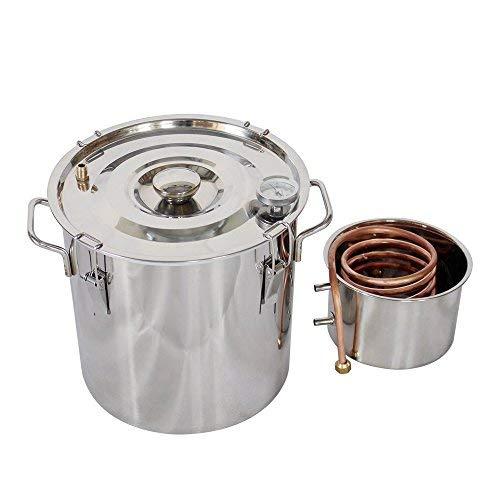 ECO LLC 5Gal Alcohol Distiller Water Distiller Stainless Copper 20L Boiler Home Brew Kit by ECO LLC (Image #3)