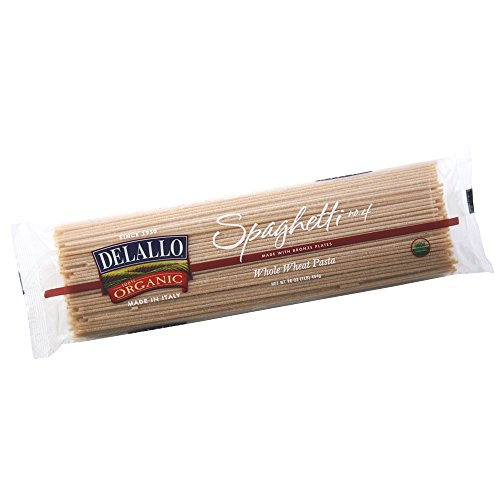DeLallo Organic Whole Wheat Spaghetti #4, 16-Ounce Units (Pack of 16) ()