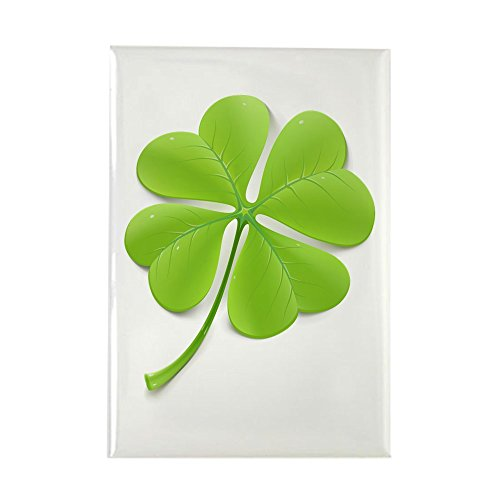 Rectangle Magnet Beautiful Clover Shamrock ()