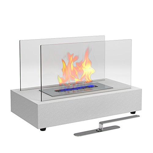 Moda Flame Vigo Table Top Ethanol Fireplace White Home