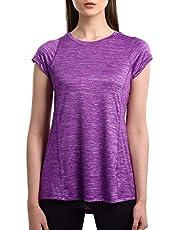 SPECIALMAGIC T-Shirt Damen Sportshirt Kurzarm Atmungsaktiv Schnell Trocken Elastisch Yoga Gym Tshirt