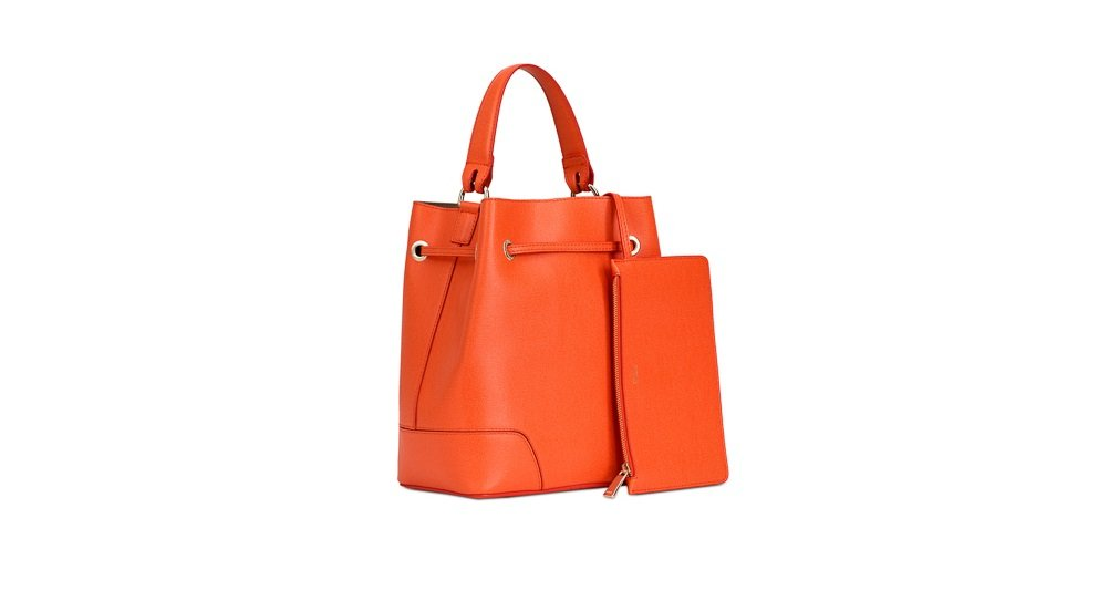 8c019c3ea98c Amazon.com  Furla Stacy S bucket bag Drawstring Mango  sunshinemauilori