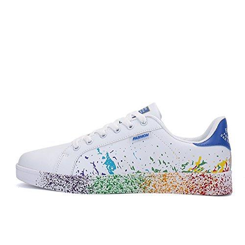 Foundation Ginnastica blu JEDVOO Running Sneakers Basse Scarpe Tennis da Uomo Donna Scarpe 77XqwPvU