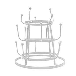 Sorbus Mug Holder Tree Organizer/Drying Rack Stand (WHITE)