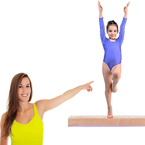 Balance Beam with Foldable Design – Sectional Floor Beam for Gymnastics Made from High-Density Foam – Suitable for Gymnasts and Cheerleaders Home Training or On-the-Go Practice 8ft