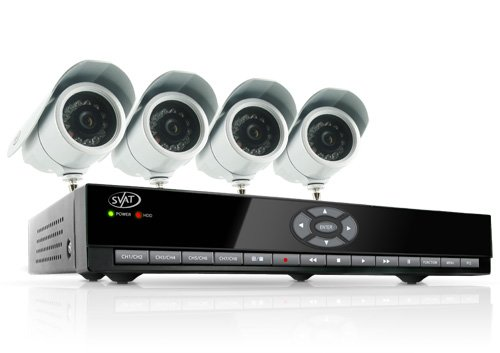 SVAT CV301-8CH-002 8-Channel H.264 Smart DVR Complete Surveillance System (Includes 4 Indoor/Outdoor High-Resolution CCD Night-Vision Cameras)