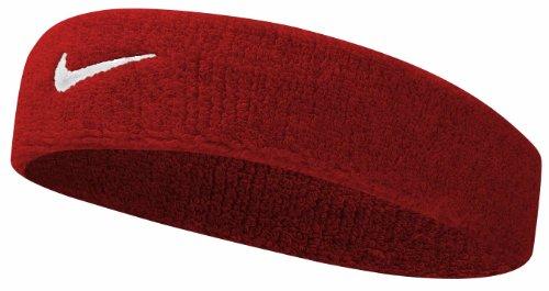 Nike Swoosh Headband (Varsity Red/White, Osfm) by Nike (Image #1)