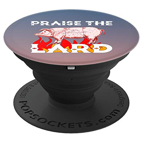 (Funny Praise The Lard BBQ Holy Pig - PopSockets Grip and Stand for Phones and Tablets)