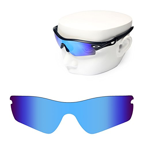 OOWLIT Replacement Sunglass Lenses for Oakley Radar Path Blue - Blue Lens Mirror Oakley