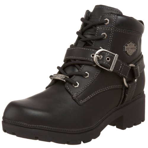Harley-Davidson Women's Tegan Ankle Boot ,Black,8 M US