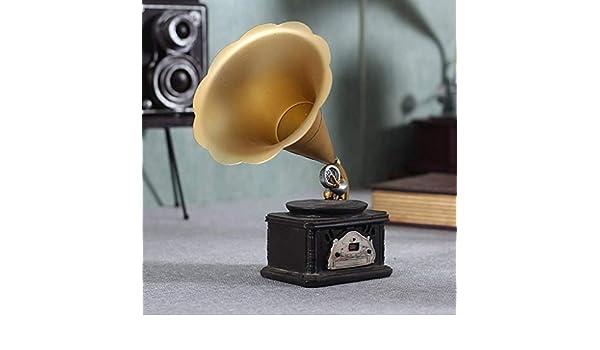 NAISI Tocadiscos Retro Europeo Adornos Vintage Fonógrafo Americano ...
