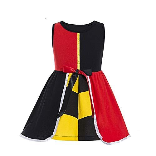 Tween Queen of Hearts Dress for Girls Queen of Hearts Child Costume Girls Princess Dress Queen Costume (Multicoloured, 5-6T)]()