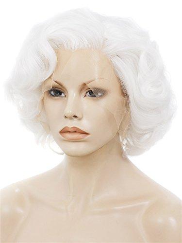 Imstyle 2015 Rubio Corto grandes rizado peluca Marilyn Monroe peinado sintético Lace Front Peluca: Amazon.es: Belleza