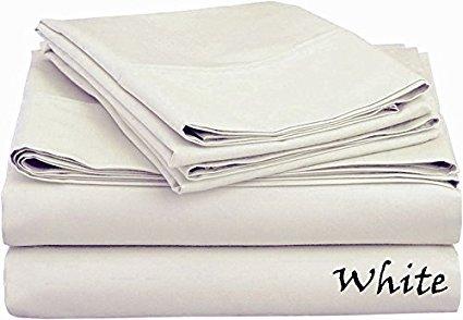 Bed Sheet Set (King - White) - Deep Pocket ( 25