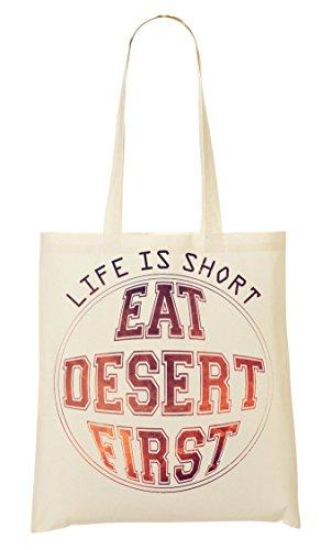 Compra Cool desert La ShutUp Bolsa phrases Eat Words Bolso De Thoughts Mano De is first Funny Life collection short YIgqUwHg