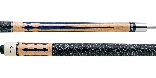 Lucasi LZ2004NB Blue Pearl Diamonds Birdseye Pool/Billiards Cue Stick Birdseye Diamond