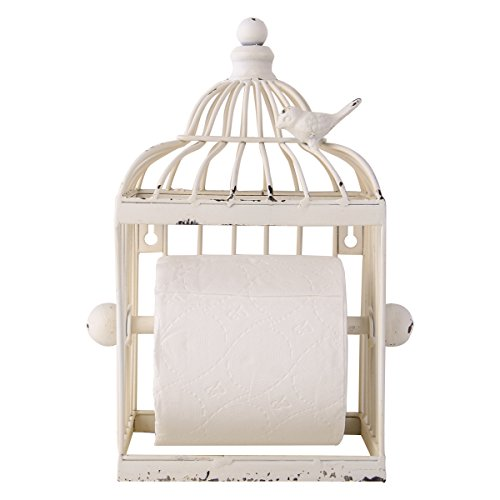 Tissue Classic Holder - NIKKY HOME Vintage Bird Tissue Holder Toilet Paper Holder, Rustic Opal,7.28 x 5.71 x 10.24-In