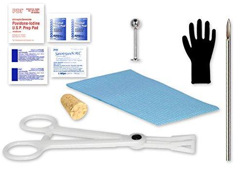 12pc Labret Chin Single Piercing Labret Kit - 16 Gauge Labret By Eg Gifts ()