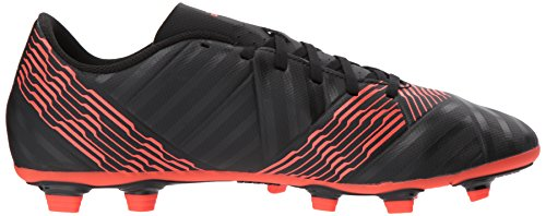 Adidas Mens Nemeziz 17.4 Fxg Scarpa Da Calcio Nucleo Nero / Nucleo Nero / Rosso Solare