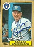 George Bamberger autographed Baseball Card (Milwaukee Brewers) 1987 Topps #468
