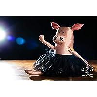 Cerdita Bailarina, seda 100% / piggy dancer 100% silk