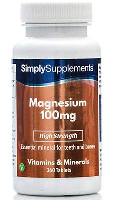Magnesium 100mg | 360 Tablets | High Strength | Healthy Bones - Energy - Endurance |
