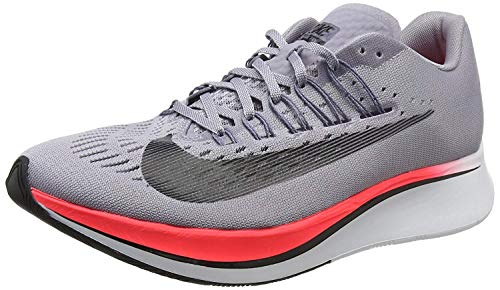 Nike Women's WMNS Zoom Fly Trainers, Grey (Provence Purple/Light Carbon/Solar Red/Black 516), 4 UK 37.5 EU ()