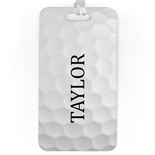 Golf Luggage & Bag Tag   Personalized Golf Ball Graphic   Standard Lines on Back   LARGE