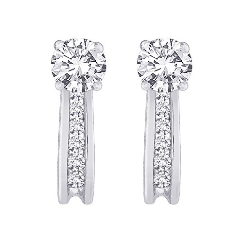 Diamond Earring Jackets in 10K White Gold (1/4 cttw, J-K, I2-I3) ()