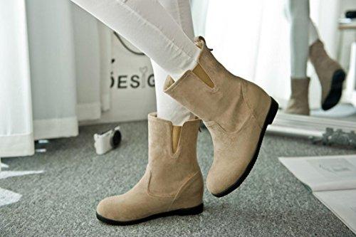 Ei&iLI Bottes femme Automne / Hiver confort PU robe augmenté Noir / Marron / Rouge / Camel Walking , camel , 35
