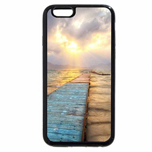 iPhone 6S / iPhone 6 Case (Black) wonderful sunrise on docks in lake