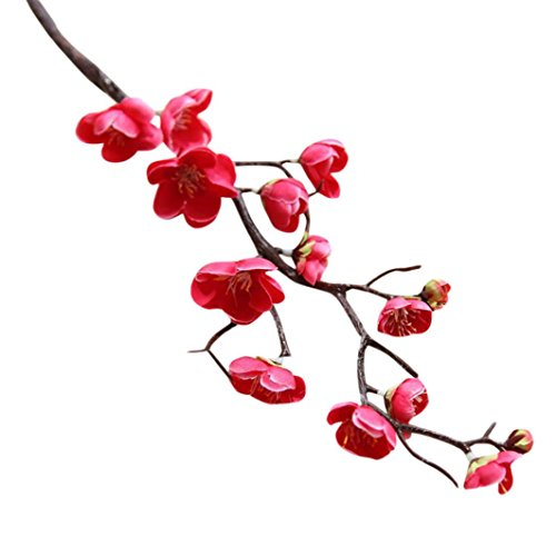 Wondere Artificial Flowers, 'Petals Feel and Look like Fresh Plum Blossom Floral' Artificial Flower Bouquet Floral Arrangement, Perfect for Wedding, Bridal, Party, Home, Office Décor DIY (Hot Pink) -
