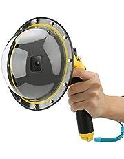AFAITH Onderwater Dome Poort voor GoPro Hero 9, Dome Port Cover Case Camera Lens Protector met Drijvende Bobber Handvat + Trigger voor GoPro Hero 9 Zwart