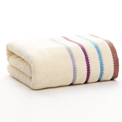 junchen 1 unidades 70 * 140 cm rayas suave toalla para adultos pelo mano toallas de mano, c: Amazon.es: Jardín