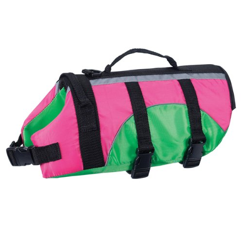 East Side Collection Fashion 24-Inch Dog Preserver, X-Large, Pink/Green, My Pet Supplies