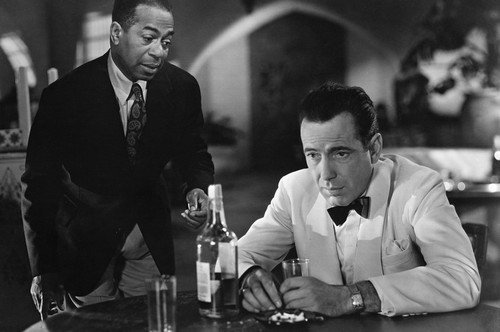 Humphrey Bogart and Dooley Wilson in Casablanca Iconic drinking Whiskey in bar 24x36 Poster