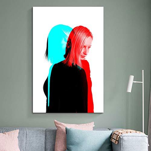 Color Art Girl Art