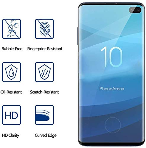 [2 Pack] Screen Protector for Samsung Galaxy S10 Plus with Camera Lens Protector, Anti-Scratch, Bubble Free, 9H Hardness…