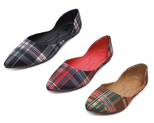 Dolly Black Shoes Ballerina Ballet DADAWEN Pumps Flats Office Women's Work wtzOn8q0xn