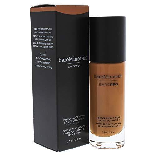 bareMinerals Barepro Performance Wear Liquid Foundation Spf 20, 28 Clove, 1 Ounce