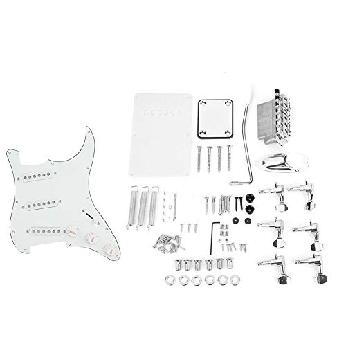 DIY Electric Guitar, Guitar Kits Pickguard Back Cover Bridge System for ST Style Guitars