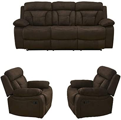 Betsy Furniture 3PC Microfiber Fabric Recliner...