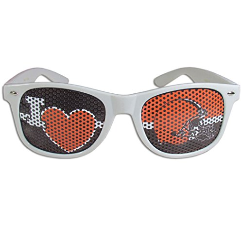 NFL Cleveland Browns I Heart Game Day Shades, White,Adult,White