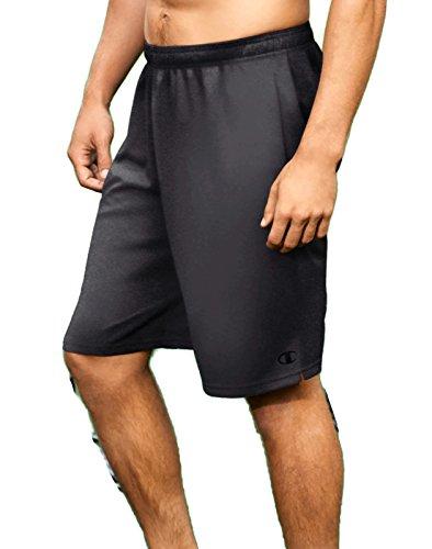 (Champion Men's Core Training Shorts 80296_Granite Heather_L)