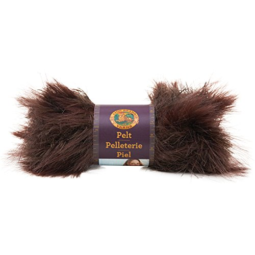Lion Brand Yarn 321-205 Pelt Yarn, Sable - Fur Yarn