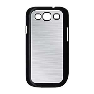 Samsung Galaxy S3 Case,Brushed Aluminium Horizontal Texture Cool Hard Shell Back Case for Black Samsung Galaxy S3 Okaycosama449119